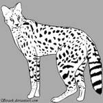 Serval lineart