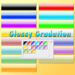 Gradation like glossy