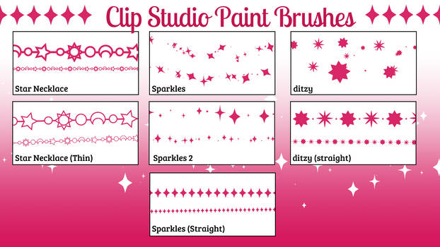 Clip Studio Paint Decorative Brushes