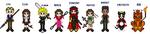 Final Fantasy VII Cast by Narren7