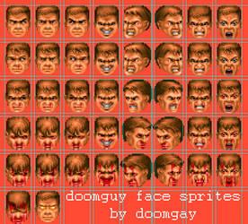 DOOMGUY face sprites (FREE PSD FILE INCLUDE) by doomgay