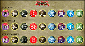 Yu-Gi-Oh! Rewritten Card Attributes by Trinitex