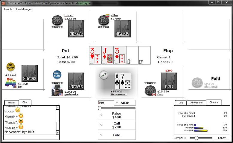 MinimalistWhite PokerTH Table-Style by Nervenarzt