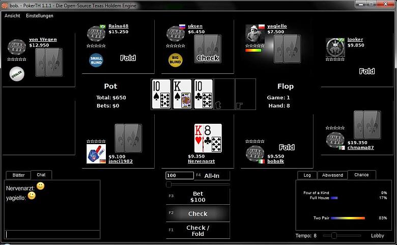 MinimalistBlack_2.0 PokerTH Table-Style by Nervenarzt
