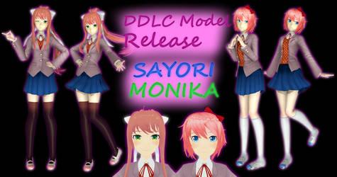 DDLC Model Release - Monika and Sayori by SeriousNorbo