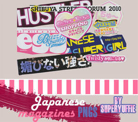 Japanese Magazines PNGs by Superyuffie