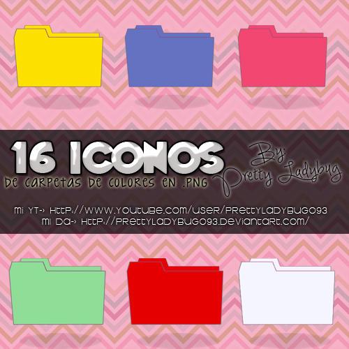 Carpetas de colores by PrettyLadybug093