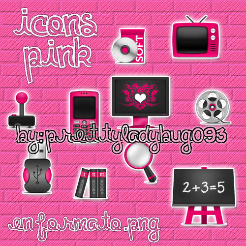 Iconos pink by PrettyLadybug093