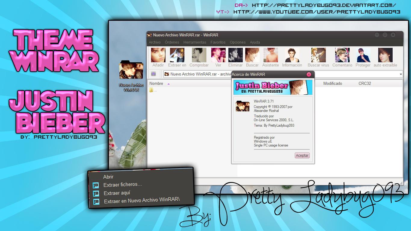 Theme WinRAR Justin Bieber by PrettyLadybug093