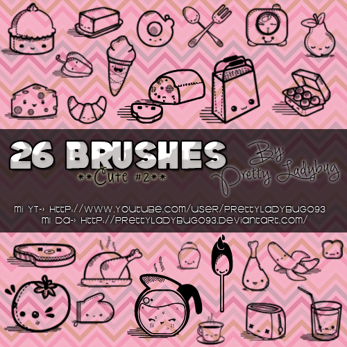Brushes Cute II by PrettyLadybug093