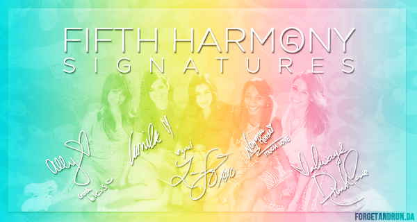 Fifth Harmony signatures brushes by forgetandrun