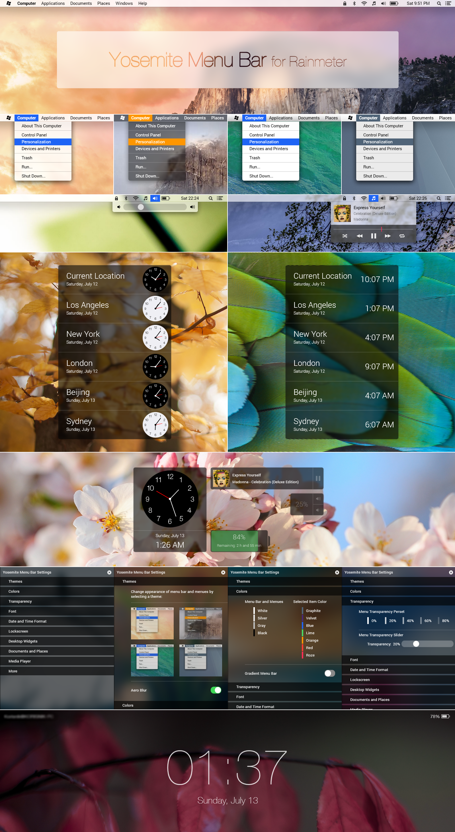 Yosemite Menu Bar by rabra