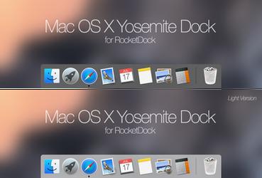 MacOSX Yosemite Dock by rabra