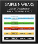 Simple Navbars Set1