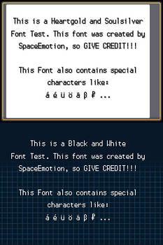 Pokemon Font Kit HGSS+BW