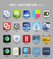 Pack 3 - Baco Flurry Icon by myBaco