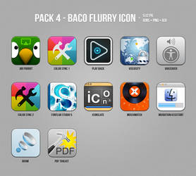 Pack 4 - Baco Flurry Icons Style