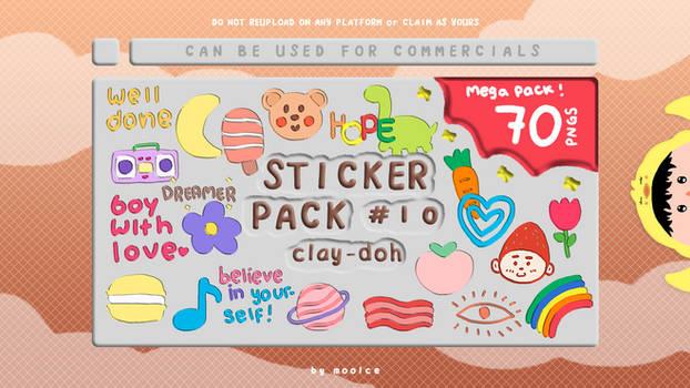 Sticker Pack #10 by moolce