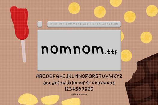 NOMNOM font by moolce