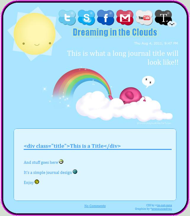 Dream Cloud Journal Skin by im-not-sana