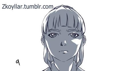 Rin Kinen key animation- Krita by zkoyllar