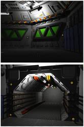 Triton Station Corridor and Hub OBJ by dmaland