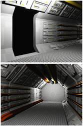 Triton Station Corridor Tube OBJ by dmaland