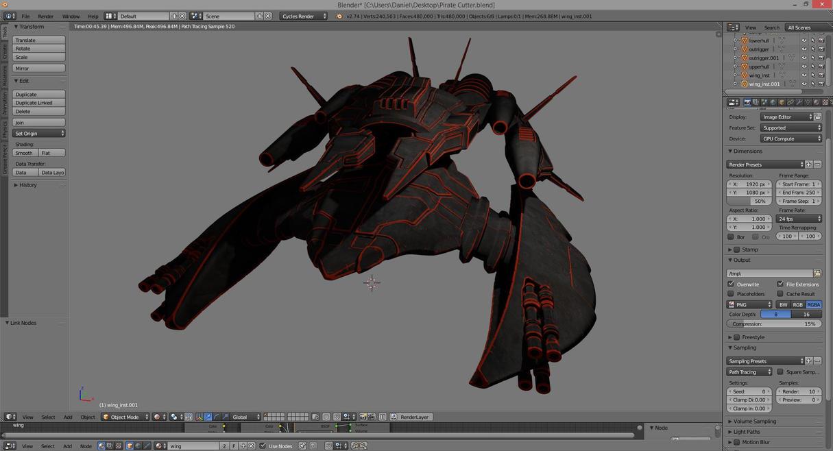 Zenoarc Pirate Cutter - 4 by dmaland