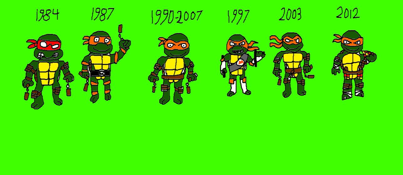 The Many Faces Of Michelangelo By Lucifertheshort On Deviantart