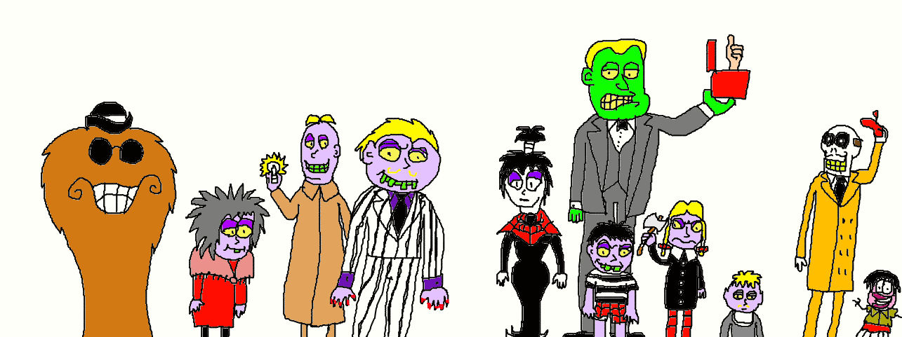 Beetlejuice Characters As The Addams Family By Lucifertheshort On Deviantart
