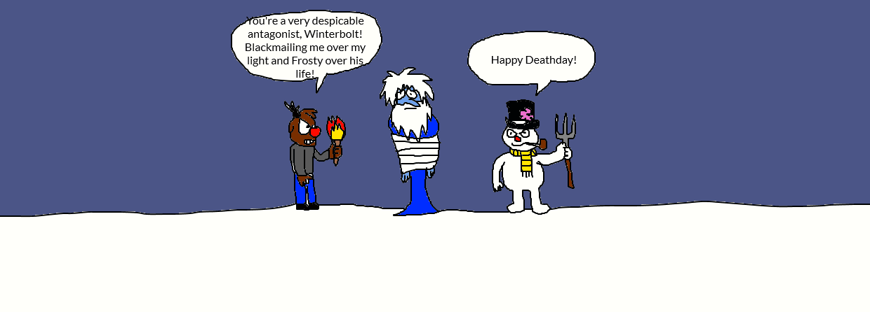 Rudolph and Frosty kill Winterbolt by LuciferTheShort on DeviantArt