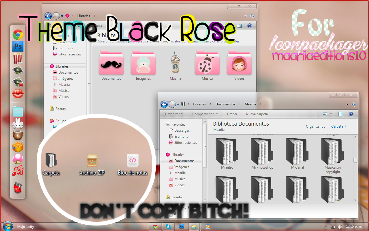 Theme Black Rose By: Maariia