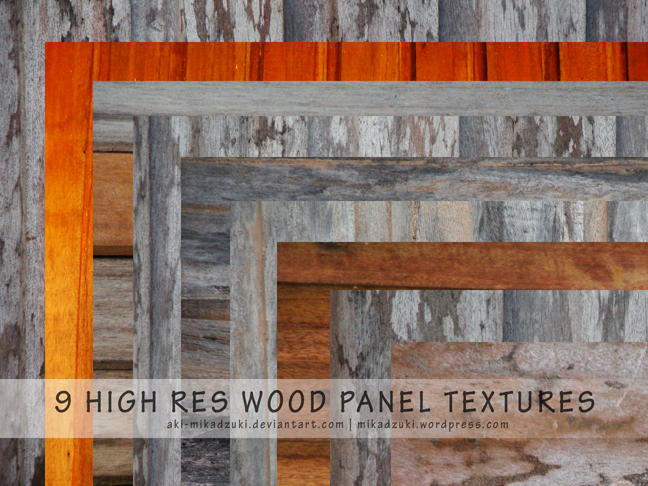 9 High Res Wood Panel Textures by aki-mikadzuki