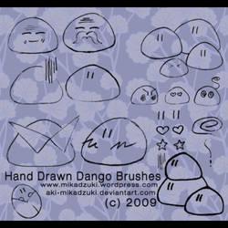 Hand Drawn Dango Brushes by aki-mikadzuki