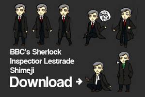 BBC Sherlock- Lestrade Shimeji