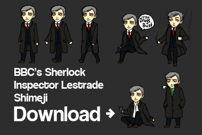 BBC Sherlock- Lestrade Shimeji by visbranndrage