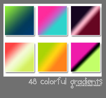 48 Colorful Gradients by sailorssweetheart