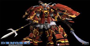 Musha Gundam (Dynasty Warriors Gundam) + weapons