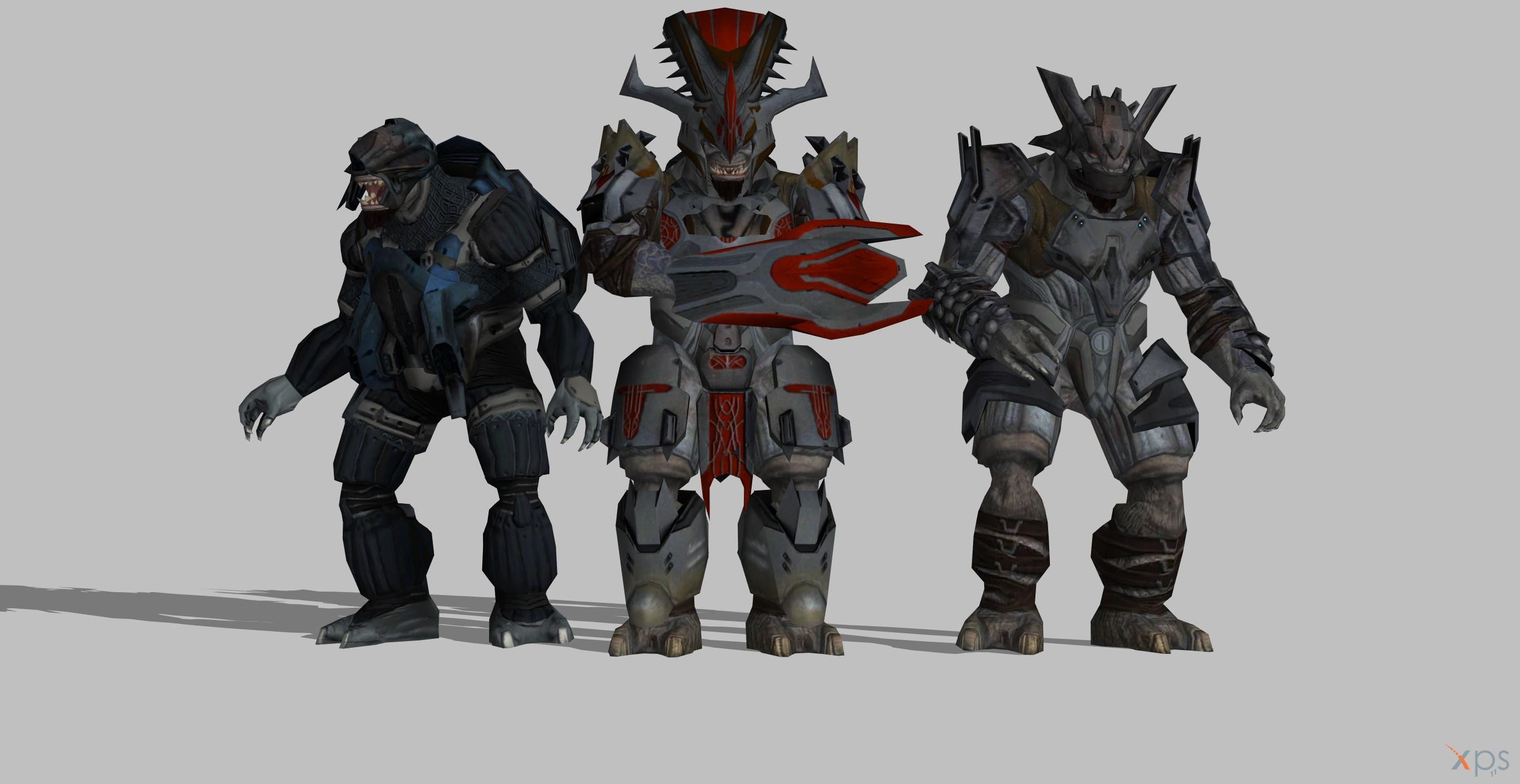 Halo 3 Brutes by BlinkJisooXPS on DeviantArt