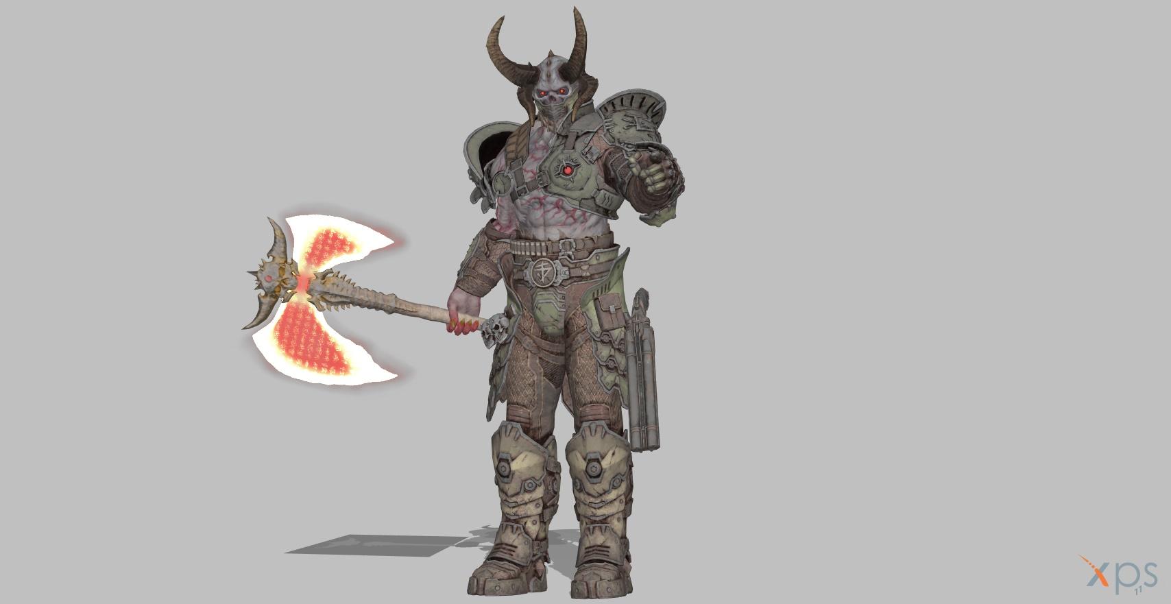 Doom Eternal Marauder By Blinkjisooxps On Deviantart