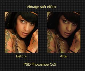 Vintage soft effect