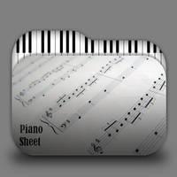 Piano Sheet Folder Icon by borisbrate