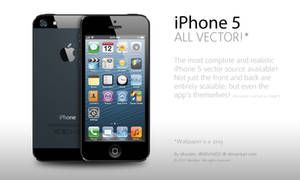 iPhone 5 entirely Vector
