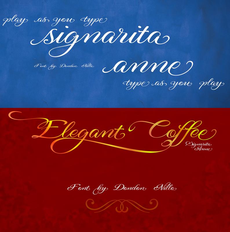 Signarita Anne Script Font by dondon-nillo