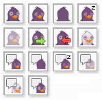 Pidgin Pigeon Icons 16x16 by Shakatu