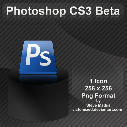 Photoshop CS3 Beta Dock Icon by Victomized