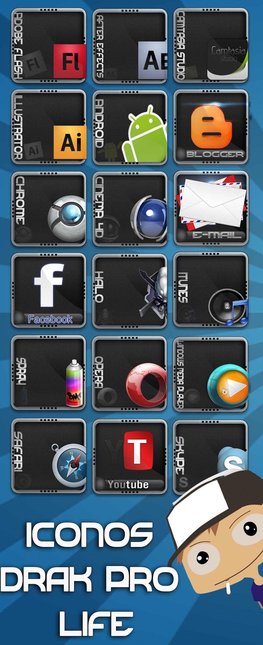 icons dark pro life v1.0 by dany15crazy