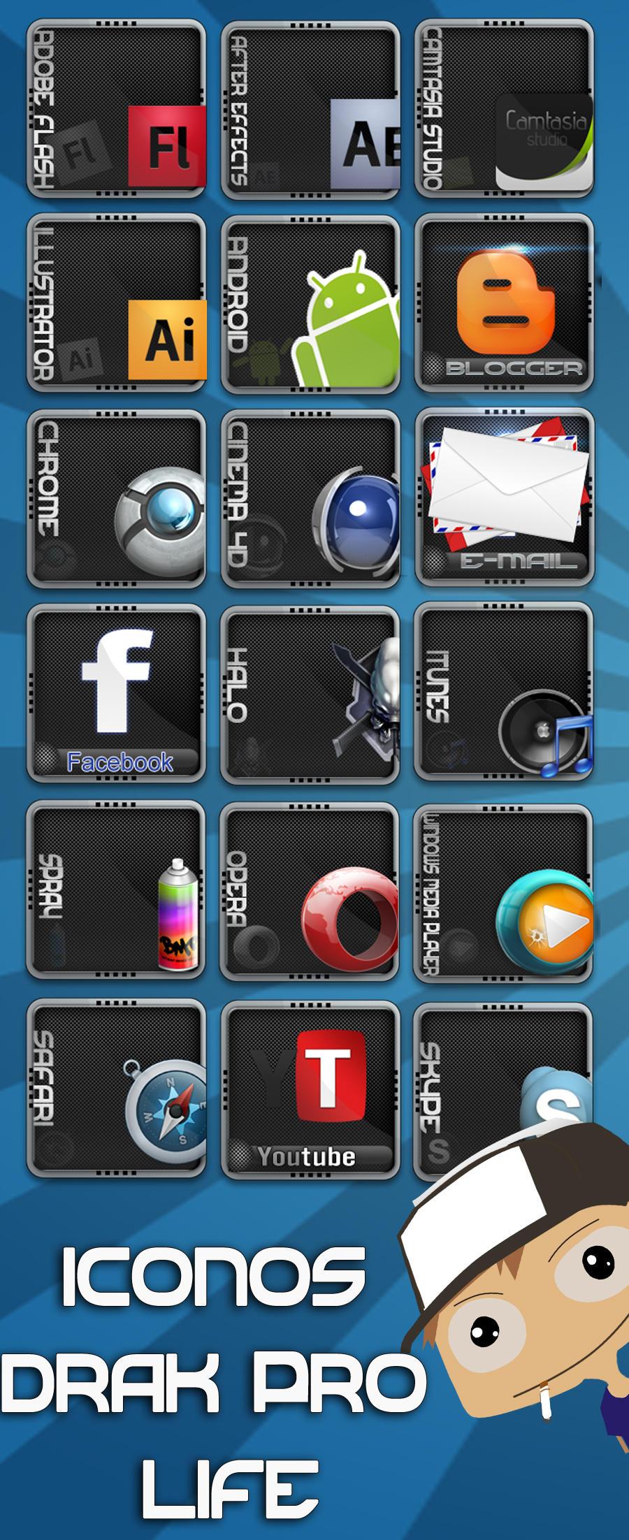 icons dark pro life v1.0 by dany15crazy