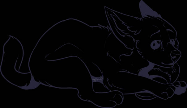 Free to use - Lineart - Innocent Puppy