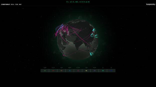 Kaspersky Cyberthreat Map V0.1alpha By Exokinetic